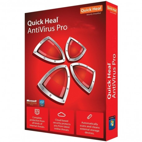 Quick heal Antivirus pro 2 pc for 1 year